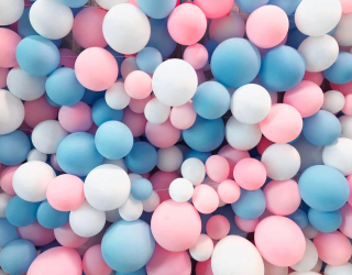 Фотообои нежные воздушные шарики 21581