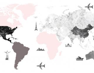 Фотообои Карта для путешественников 23035
