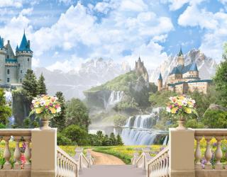 Фотообои Фреска с замком 22738