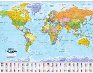 Фотообои Карта мира  22587