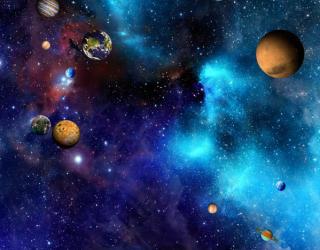 Фотообои Звёздное небо и планеты 29030