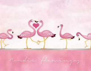 Фотообои Розовые фламинго  23774