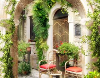 Фотообои Арка с листьями 22401