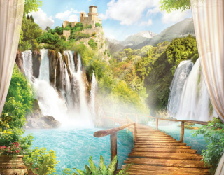 Фотообои Дорожка к водопаду 22376