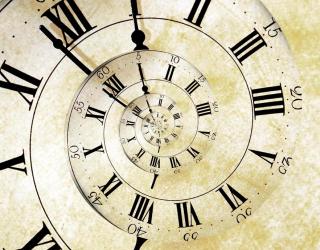 Фотообои Часы, спираль 12829