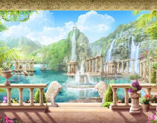 Фотообои Фреска с водопадом 22237