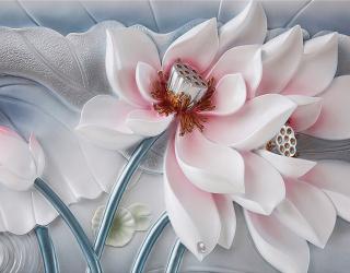 Фотообои Красивый керамический цветок 20180