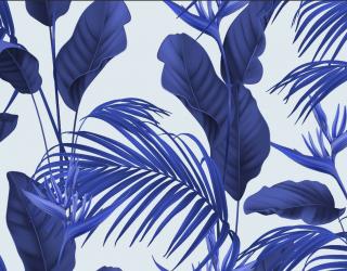 Фотообои Синие тропические листья 26418