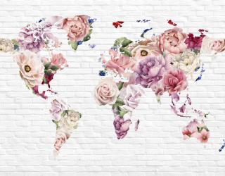 Фотообои Цветочная карта для девочки 23057