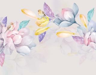 Фотообои Акварельные нежные цветы 22423