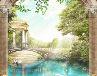 Фотообои Вид из арки на Венецию 26775