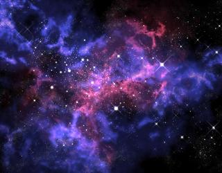 Фотообои сияние звёзд в космосе 20487