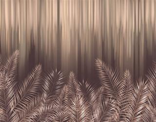 Фотообои Коричневые дизайнерские листья 24694