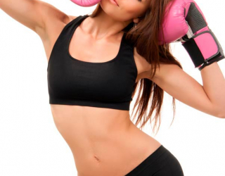 Фотообои Девушка в боксерских перчатках 5977