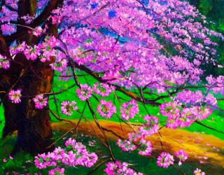 Фотообои Цветущая сакура 7274