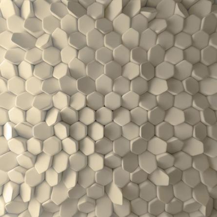Фотообои Стена из 3д шестиугольников