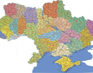 Фотообои Карта Украины 19776