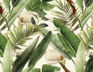 Фотообои Тропические листья и каллы 26441