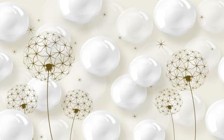 Фотообои Воздушные шары и одуванчики