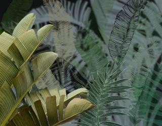Фотообои Дизайнерские листья 26717