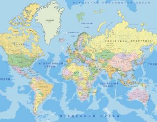 Фотообои Карта на украинском 22142