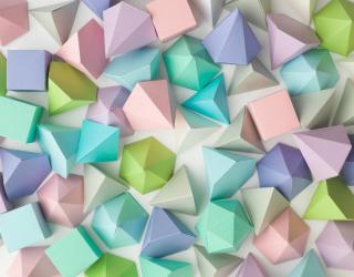 Фотообои разноцветное бумажное оригами 21327