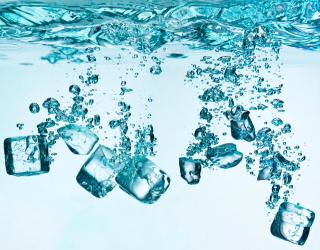 Фотообои Лёд, вода 10869