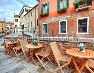 Фотообои Кафе, улица 124271032
