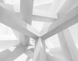 Фотообои Белые квадратные столбы 20534