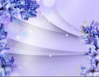 Фотообои Фиолетовые гиацинты 3д 29015