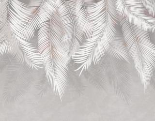 Фотообои Серые листья с потолка 22120