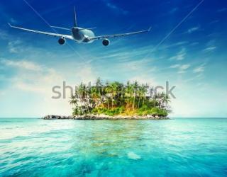 Фотообои Остров, океан, самолёт 357832472