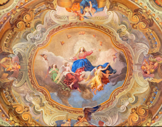 Фотообои Античная фреска на потолок 22530