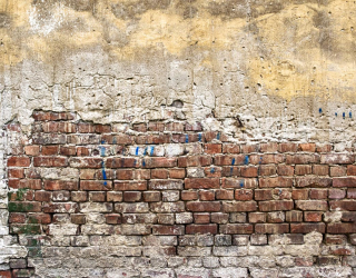 Фотообои Желто-бело-красная кирпичная стена 21151