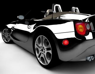 Фотообои черный блестящий автомобиль 20326