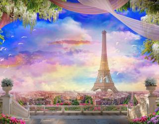 Фотообои Фреска с Парижем 25404