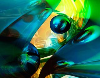 Фотообои Шары и цветная абстракция 20540