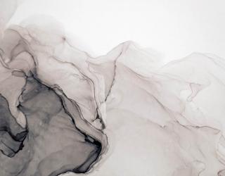 Фотообои Fluid art чёрно-белый 27642