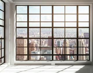 Фотообои Вид из окна на город 20239