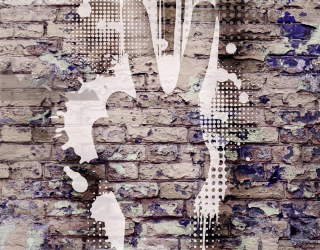 Фотообои Графити на кирпичной стене 20541