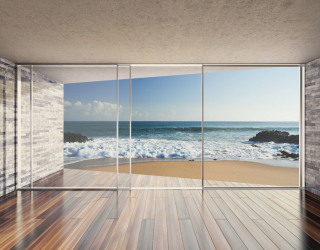 Фотообои Вид из окна на море 20236