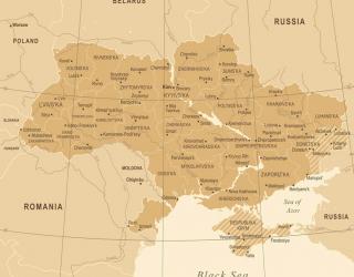 Фотообои Административная карта Украины 23572