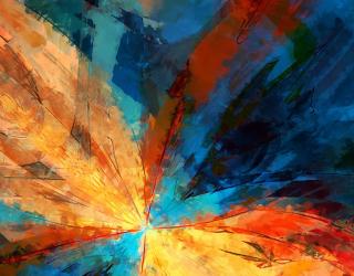 Фотообои разноцветное перо 21669