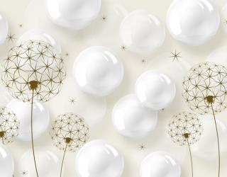 Фотообои Воздушные шары и одуванчики 22921