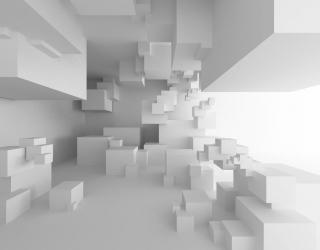 Фотообои кубы перспектива 21143