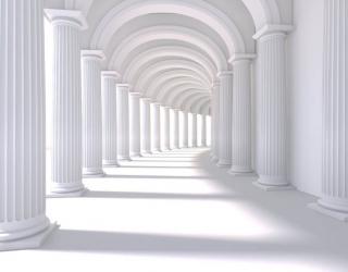 Фотообои Белый 3д тоннель 26581
