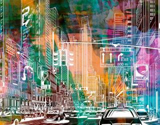 Фотообои Мегаполис 20091