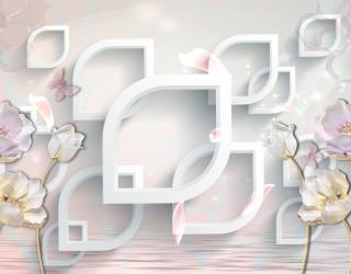 Фотообои 3д керамические цветы 21601
