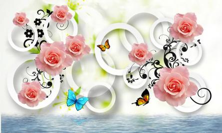Фотообои 3д розы