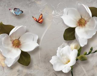 Фотообои 3 д цветы  19304